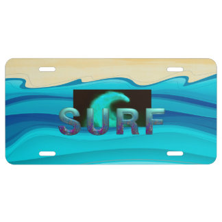 TOP Surf License Plate