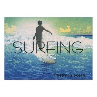 TOP Surfing Poetry in Ocean Business Cards