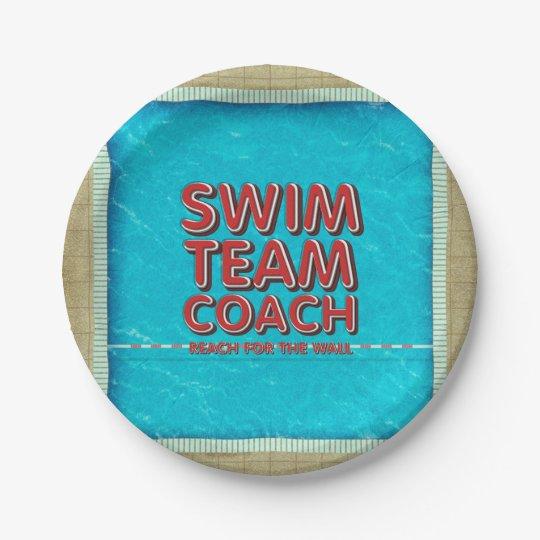TOP Swim Coach 7 Inch Paper Plate
