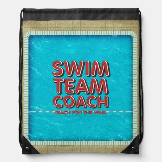 TOP Swim Coach Drawstring Bags