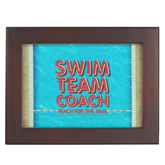 TOP Swim Coach Keepsake Box