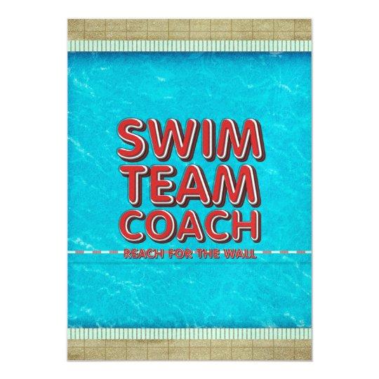 TOP Swim Coach Magnetic Invitations