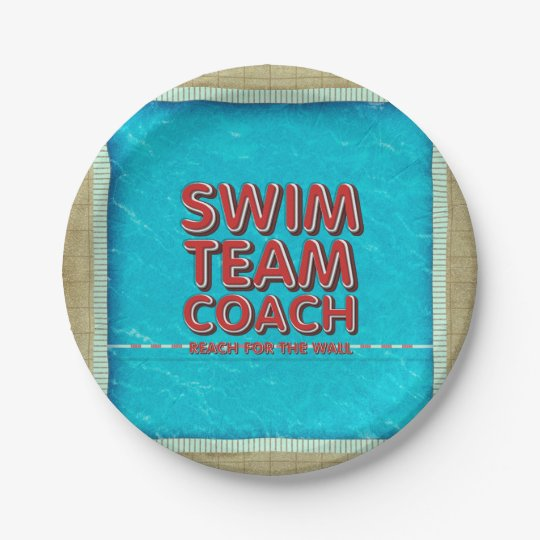 TOP Swim Coach Paper Plate
