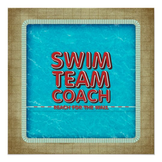 TOP Swim Coach Perfect Poster