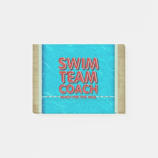 TOP Swim Coach Post-it Notes