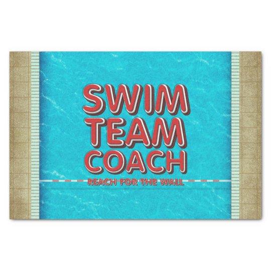 TOP Swim Coach Tissue Paper