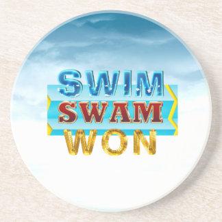 TOP Swim Swam Won Beverage Coasters