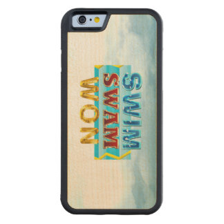 TOP Swim Swam Won Carved Maple iPhone 6 Bumper Case