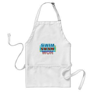 TOP Swim Swam Won Standard Apron