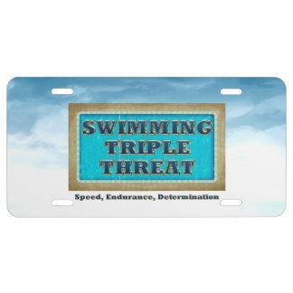 TOP Swim Triple Threat License Plate