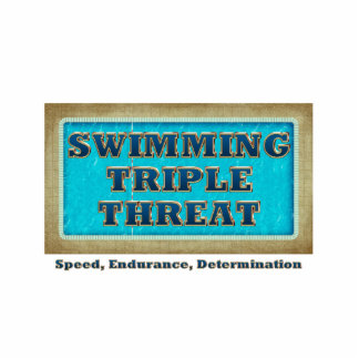 TOP Swimming Triple Threat Standing Photo Sculpture