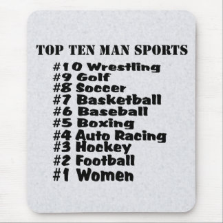 Top Ten Man Sports Funny List Mouse Pad
