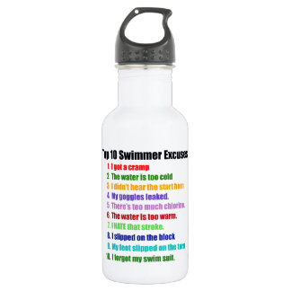 Top Ten Swimmers Excuses 532 Ml Water Bottle