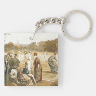 TOP Tennis Old School Double-Sided Square Acrylic Keychain