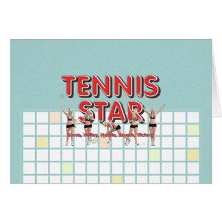 TOP Tennis Star Card