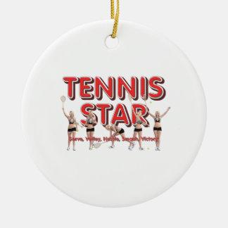 TOP Tennis Star Ceramic Ornament