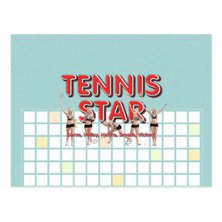 TOP Tennis Star Postcard