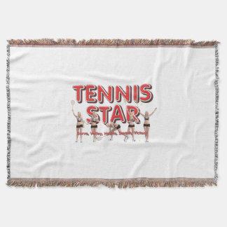 TOP Tennis Star Throw Blanket