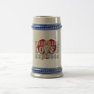 TOP This Girl Loves Yoga Beer Stein