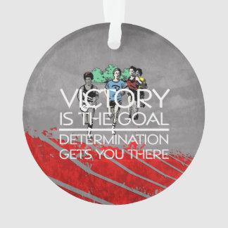 TOP Track Victory Slogan Ornament
