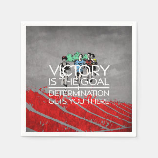 TOP Track Victory Slogan Paper Napkins