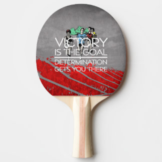 TOP Track Victory Slogan Ping Pong Paddle