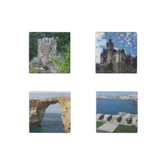 Top travel destination stone magnets