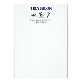 "TOP Triathlon 5"" X 7"" Invitation Card"