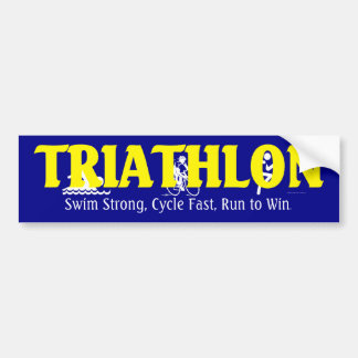 TOP Triathlon Bumper Sticker