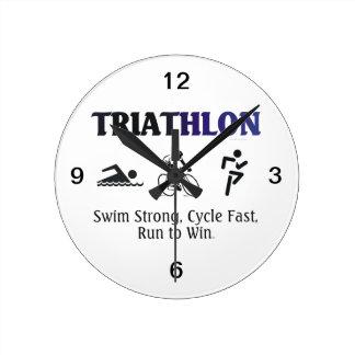 TOP Triathlon Round Clock