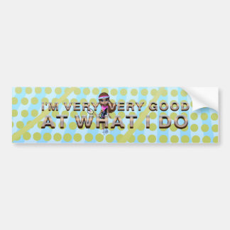 TOP Very Good at What I Do, Tennis Bumper Sticker