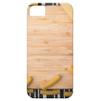 Top view food background made of thin spaghetti case for the iPhone 5