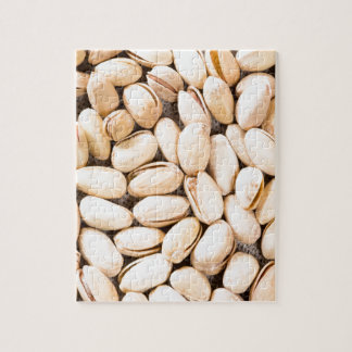 Top view of a lot of salty pistachios jigsaw puzzle