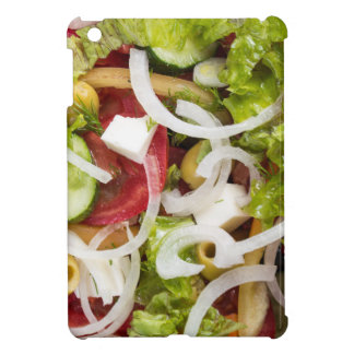 Top view of a salad made from natural vegetables iPad mini covers