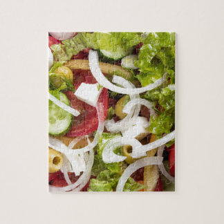 Top view of a salad made from natural vegetables jigsaw puzzle