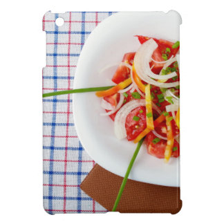 Top view of a small portion of vegetarian salad iPad mini covers