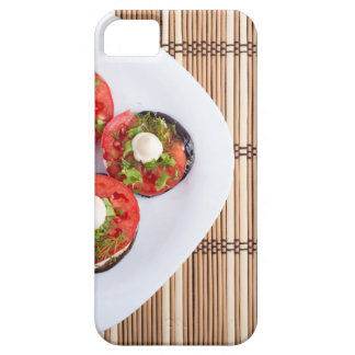 Top view of a vegetable dish of eggplant iPhone 5 cases