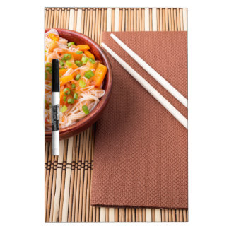 Top view of an Asian bowl of rice noodle Dry-Erase Boards
