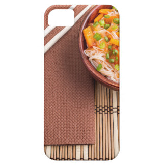 Top view of an Asian dish of rice noodle iPhone 5 Cover