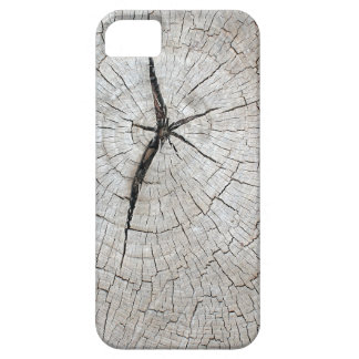 Top view of an old gray texture of a tree trunk case for the iPhone 5