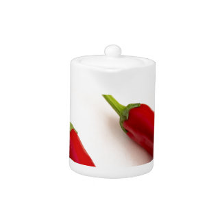 Top view of hot chili peppers
