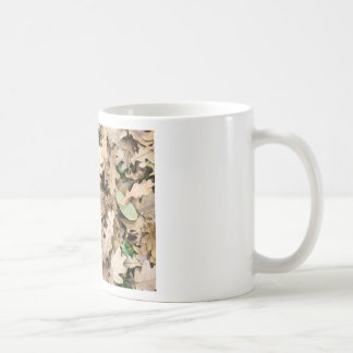 Top view of the fallen oak leaves closeup coffee mug