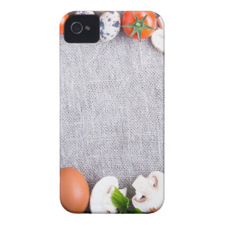 Top view of the food ingredients in the form iPhone 4 Case-Mate cases