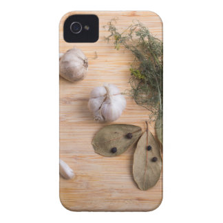 Top view of the garlic and dried spices iPhone 4 Case-Mate cases