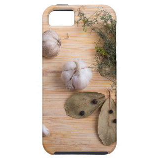 Top view of the garlic and dried spices iPhone 5 covers