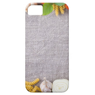 Top view of the ingredients for a meal iPhone 5 case