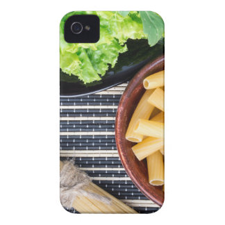 Top view of the ingredients for cooking food iPhone 4 cover