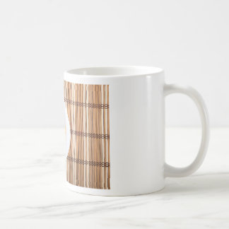 Top view of the Italian pasta on wooden background Coffee Mug