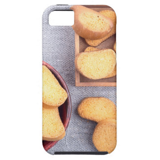 Top view of the pieces of dried bread iPhone 5 cases