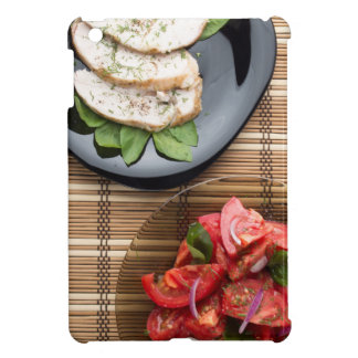 Top view of the table with a home-cooked meal iPad mini case